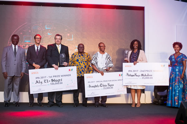 Three outstanding African innovations walk away with Innovation Prize for Africa (IPA) 2017 total cash prize of US$150 000